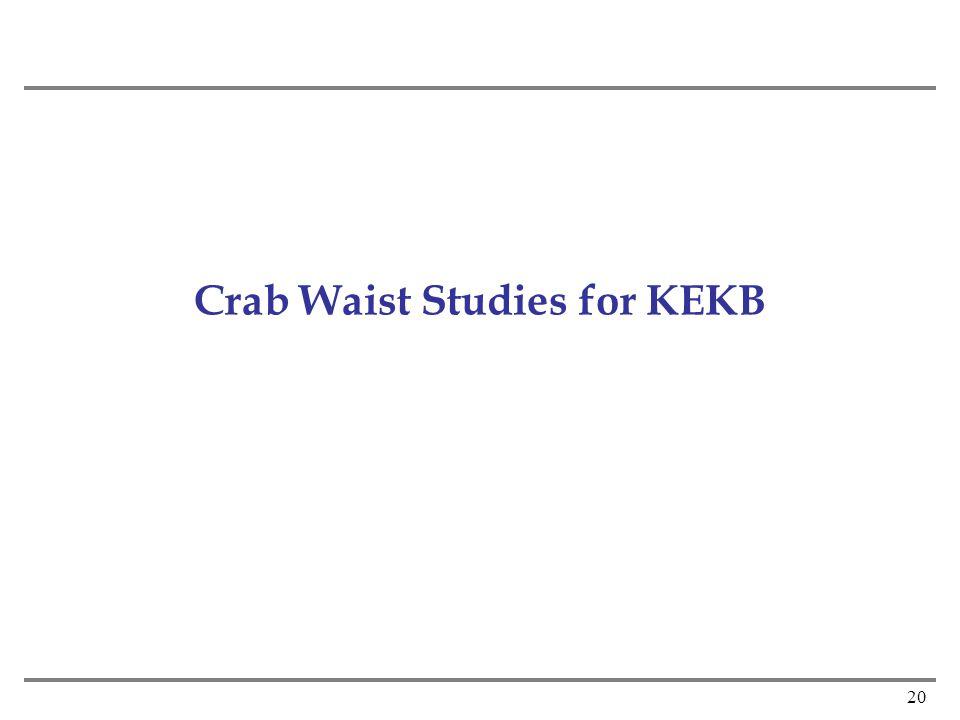 20 Crab Waist Studies for KEKB