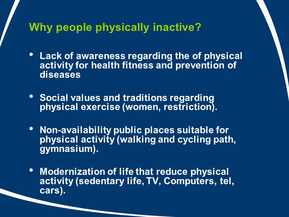 Why people physically inactive.