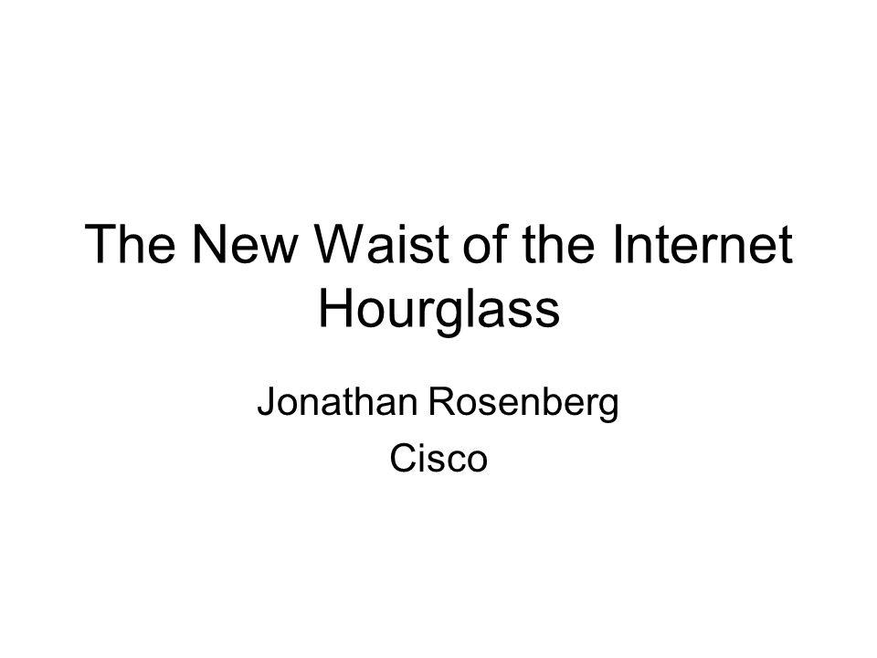 The New Waist of the Internet Hourglass Jonathan Rosenberg Cisco