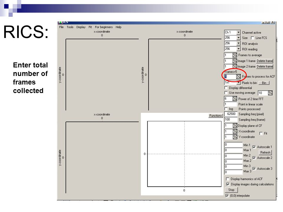 RICS: Enter total number of frames collected
