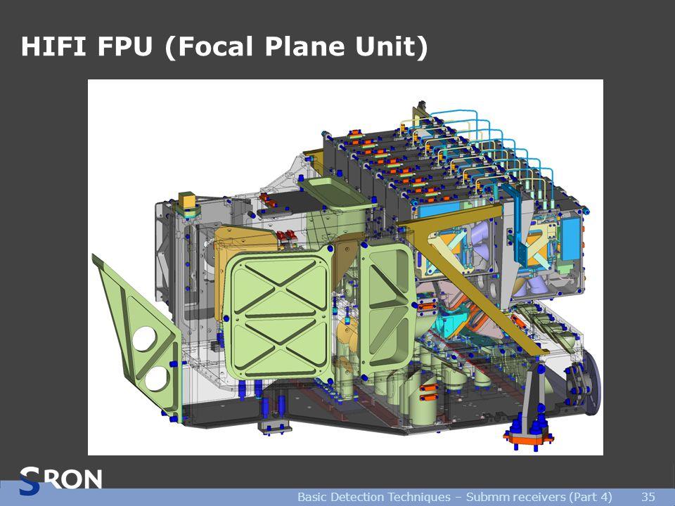 Basic Detection Techniques – Submm receivers (Part 4)35 HIFI FPU (Focal Plane Unit)