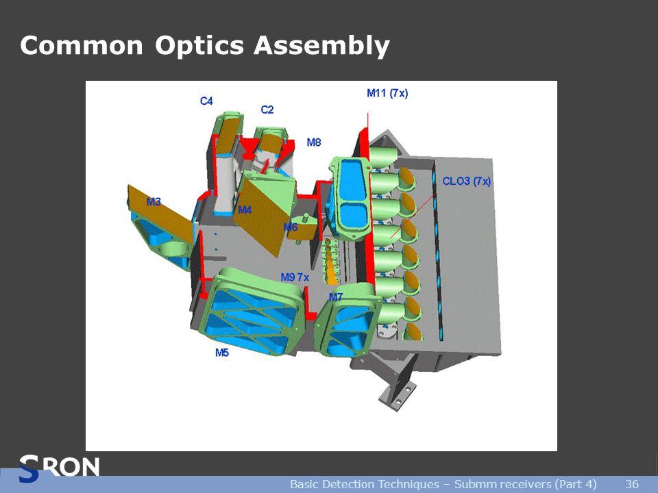 Basic Detection Techniques – Submm receivers (Part 4)36 Common Optics Assembly