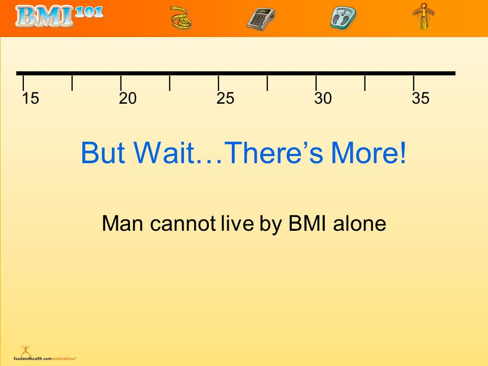 But Wait…There's More! Man cannot live by BMI alone |||||||||||||||||| 1520253035