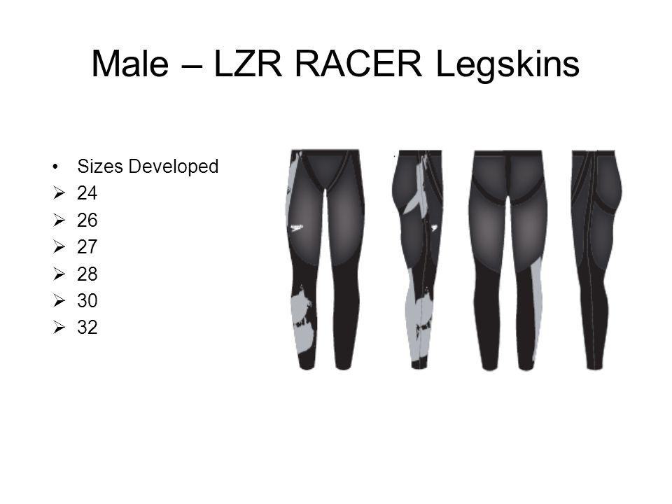 Male – LZR RACER Legskins Sizes Developed  24  26  27  28  30  32