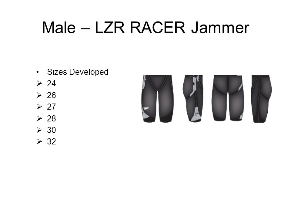 Male Size Chart - LZR RACER This is a Guide only Suit size small Small longMedium Med longLarge Large long X/L A Body Loop 170175 (180) 180185190 B Chest101 (96) 101106 (101) 106111 (106) 111116 (111) C Waist80 81 82 84 D Inside leg78 79 80 81 E Thigh56 57 58 59 Red = original FSPRO size chart athlete dimensions