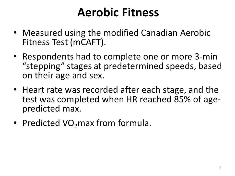 Conclusions Overall, the prevalence of suboptimal fitness levels has increased markedly since 1981.