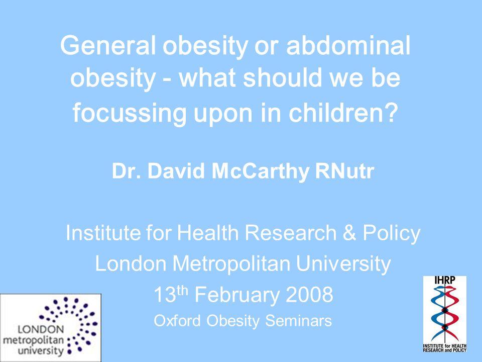 Ethnicity-related variation in upper body fatness in East London schoolchildren.