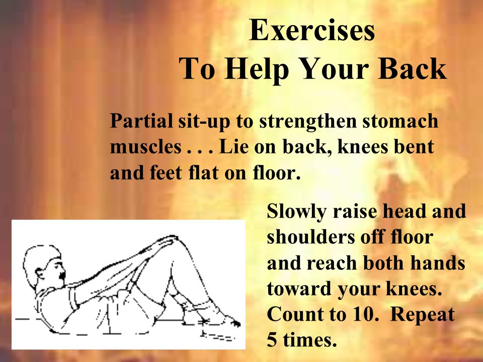 Leg raises while seated...Sit upright, legs straight and extended at an angle to floor.