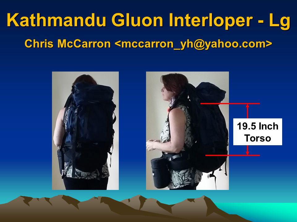 Kathmandu Gluon Interloper - Lg 19.5 Inch Torso Chris McCarron Chris McCarron