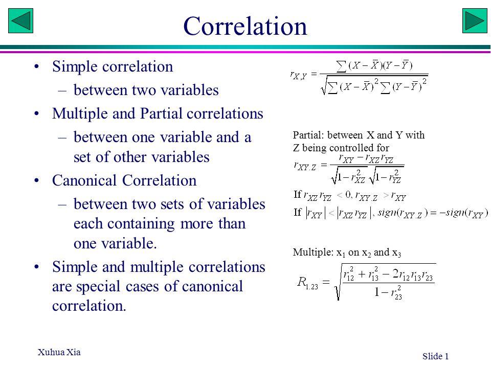 Xuhua Xia Slide 12 Canonical Correlation Adjusted Approx Squared Canonical Canonical Standard Canonical Correlation Correlation Error Correlation 1 0.878578 0.856195 0.052330 0.771899 2 0.264992 0.080853 0.213306 0.070221 3 0.062661.