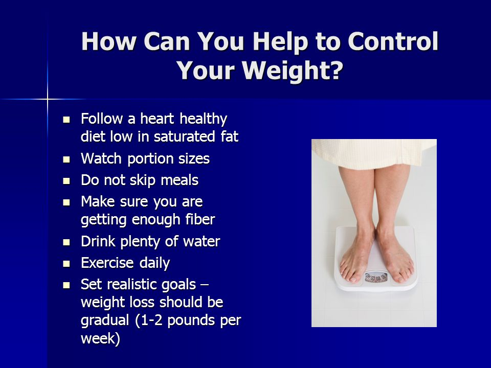How Can You Help to Control Your Weight.