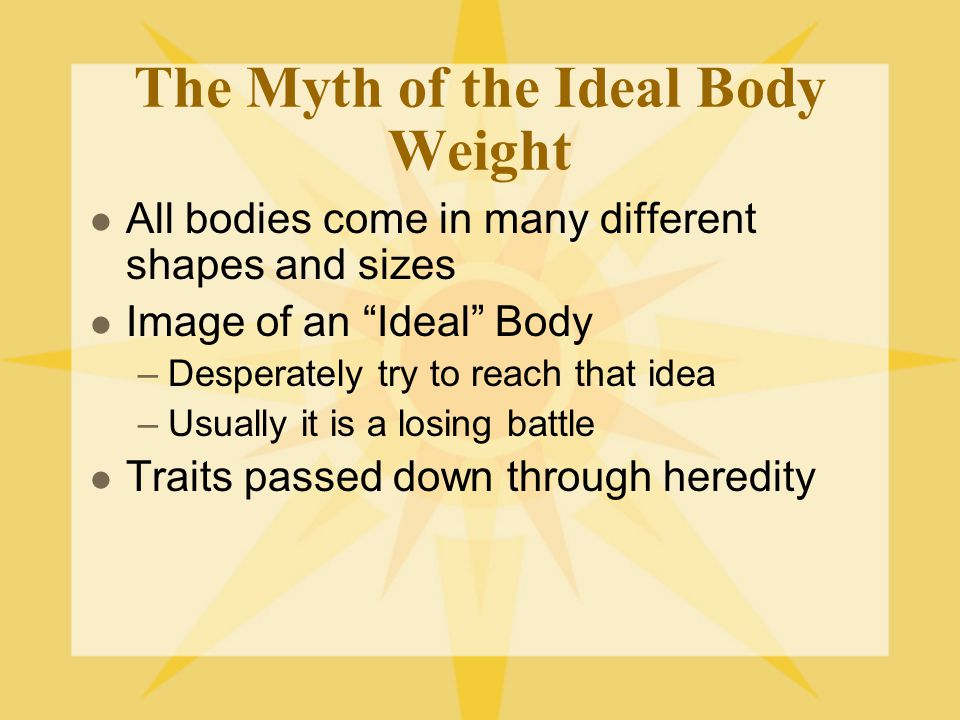 Waist-to-Hip Ratio Adult women should have a ratio no higher than.80 Adult men should have no higher than.95 Ratios above these limits may increase the risk of health problems, even if BMI shows that weight is at a healthy level