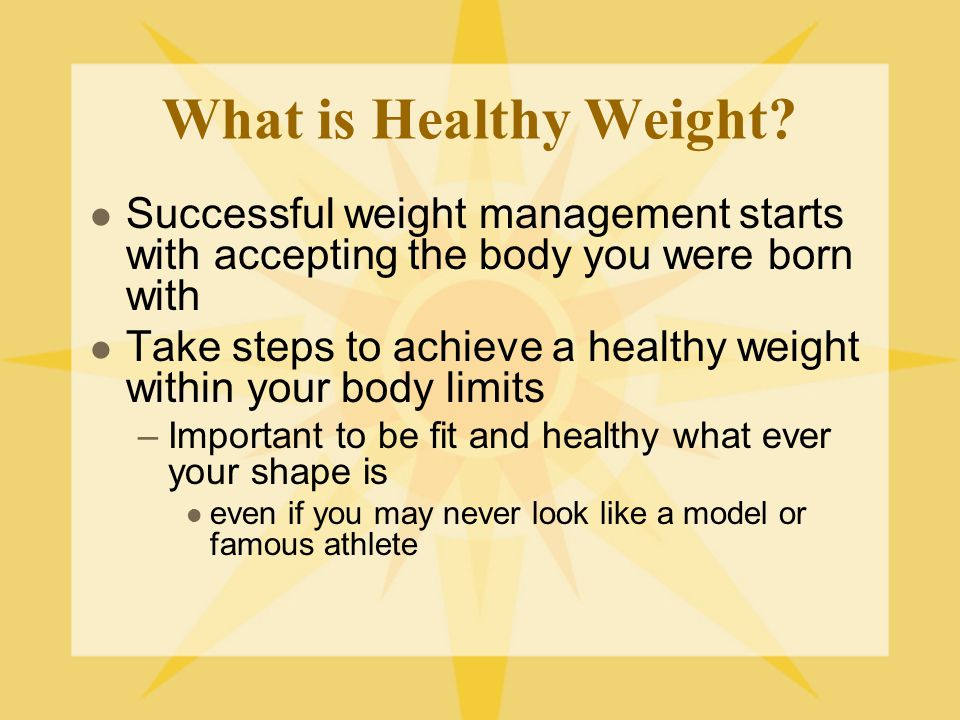 What is a Healthy Weight.