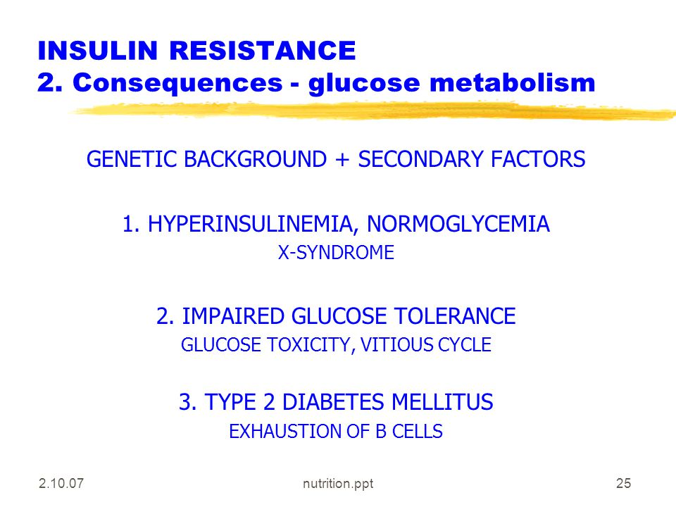 2.10.07nutrition.ppt25 INSULIN RESISTANCE 2.