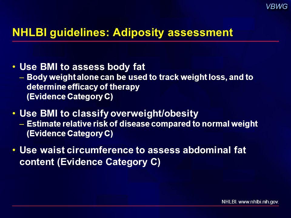 BMI classifications BMI (kg/m 2 ) Underweight<18.5 Normal weight18.5-24.9 Overweight25-29.9 Class 1 obesity30-34.9 Class 2 obesity35-39.9 Class 3 (extreme) obesity≥40 NHLBI.