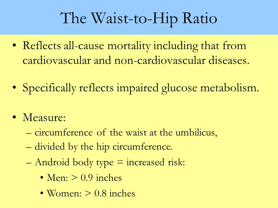 Some Risk Factors Associated with Impaired Glucose Metabolism Waist-to-hip ratio BMI Systolic & diastolic BP Fasting insulin 2-hour insulin Fasting tr