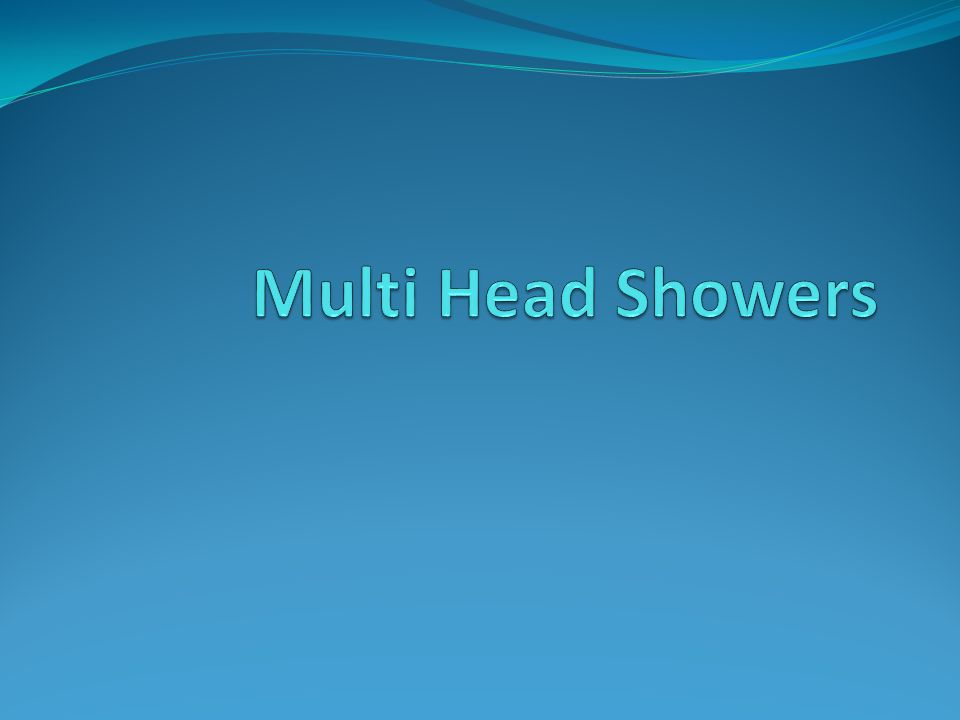 A ) User height is a critical factor in setting the height of shower outlets.