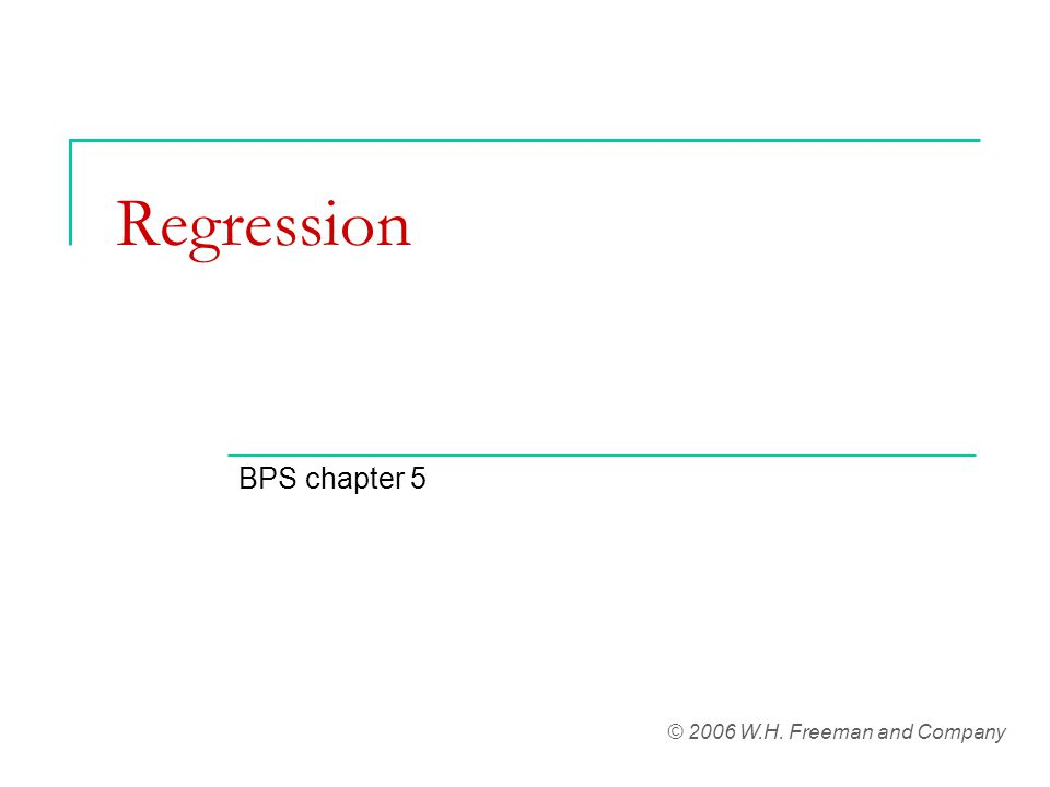 Residual plots The following are regression assumptions: 1.