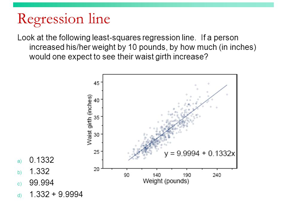 Correlation or regression (answer) Which of the following makes no distinction between explanatory and response variables.