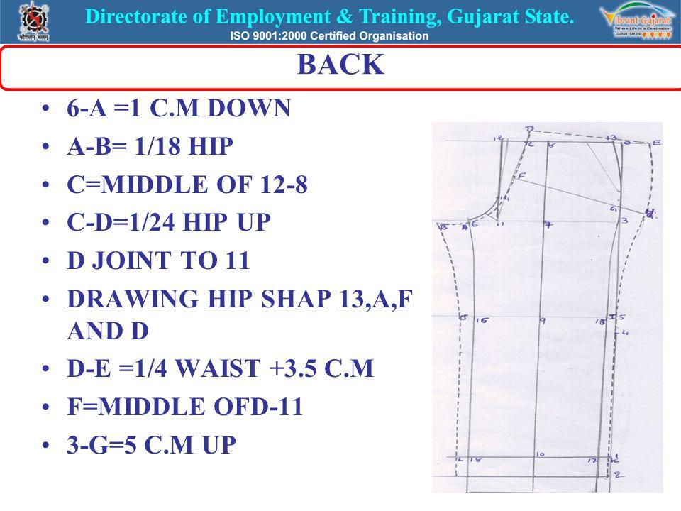 BACK F-H =5 C.M UP 15-I =2 C.M 17-K=2 C.M JOINT E,H,I AND K 16-J=2 C.M JOINT B,J AND L 18-L=2 C.M JOINT B,J AND L