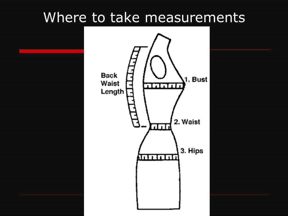 Where to take measurements