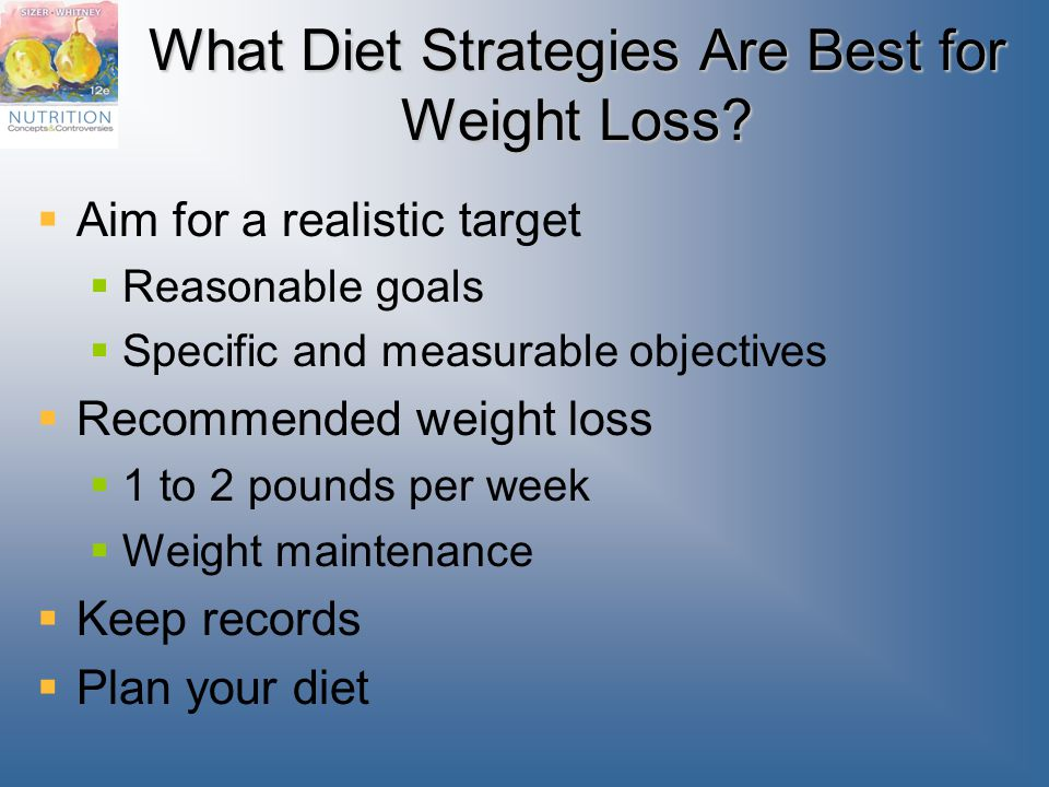 What Diet Strategies Are Best for Weight Loss.