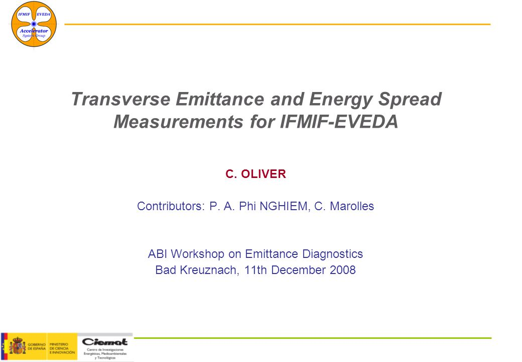 December, 11th 2008 Workshop on Emittance Diagnostics 22 -Is this approximation valid for IFMIF-EVEDA.
