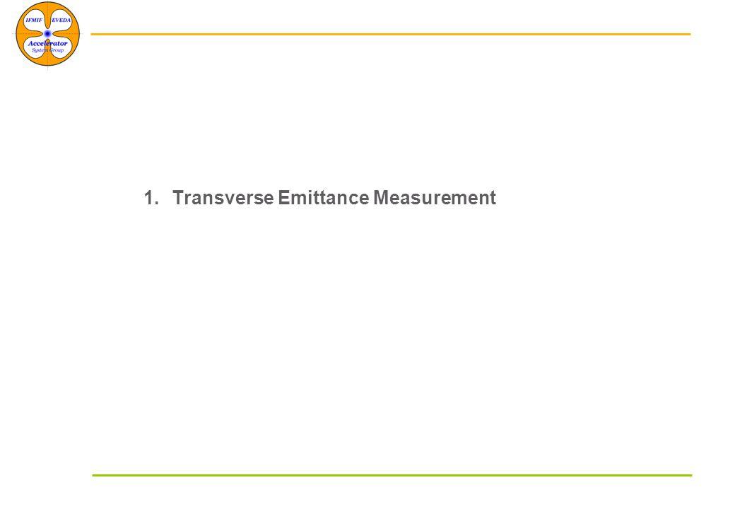 1.Transverse Emittance Measurement