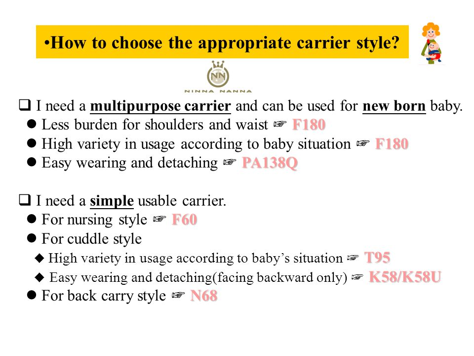 How to choose the appropriate carrier style.