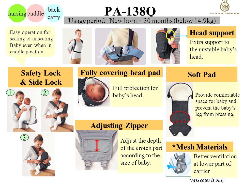 F180 / PA138Q Consumer Voice No shoulder pressure The wide shoulder belts prevent belts from dig into my shoulder.