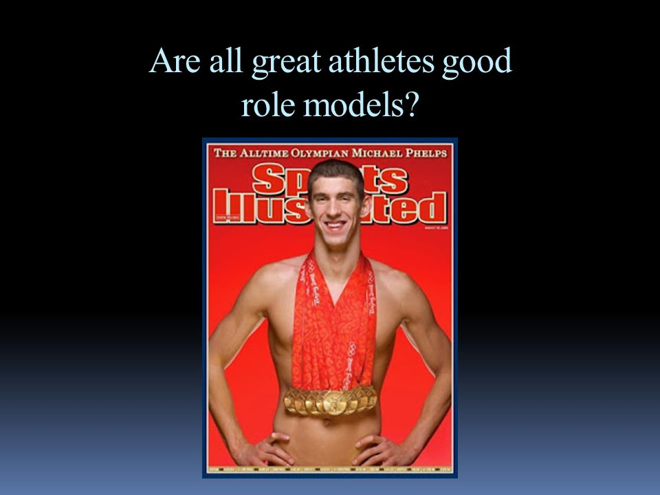 Are all great athletes good role models?