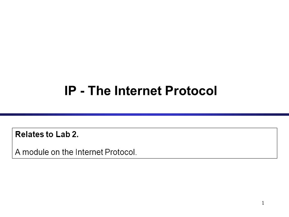2 IP (Internet Protocol) is a Network Layer Protocol.