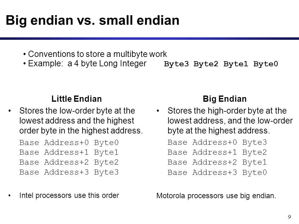 9 Big endian vs.