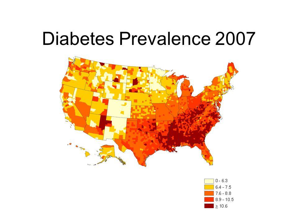 Diabetes Prevalence 2007