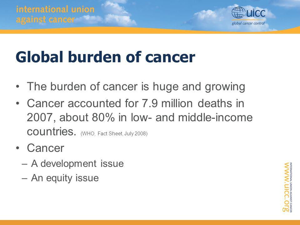 UICC World Cancer Congress 2010, Shenzhen, China Why Asia.