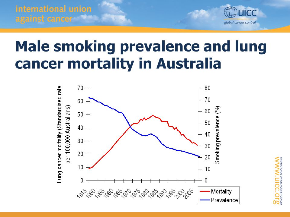 Male smoking prevalence and lung cancer mortality in Australia