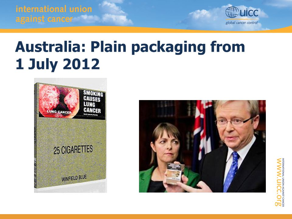 Australia: Plain packaging from 1 July 2012