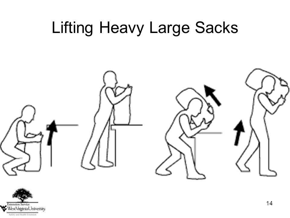 14 Lifting Heavy Large Sacks