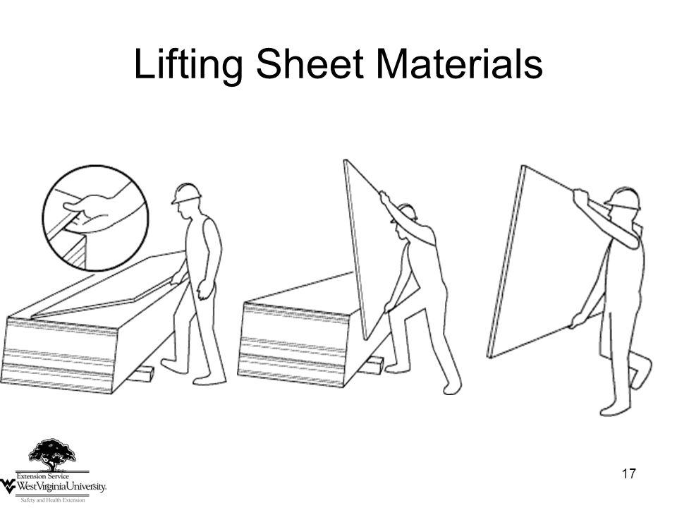 17 Lifting Sheet Materials