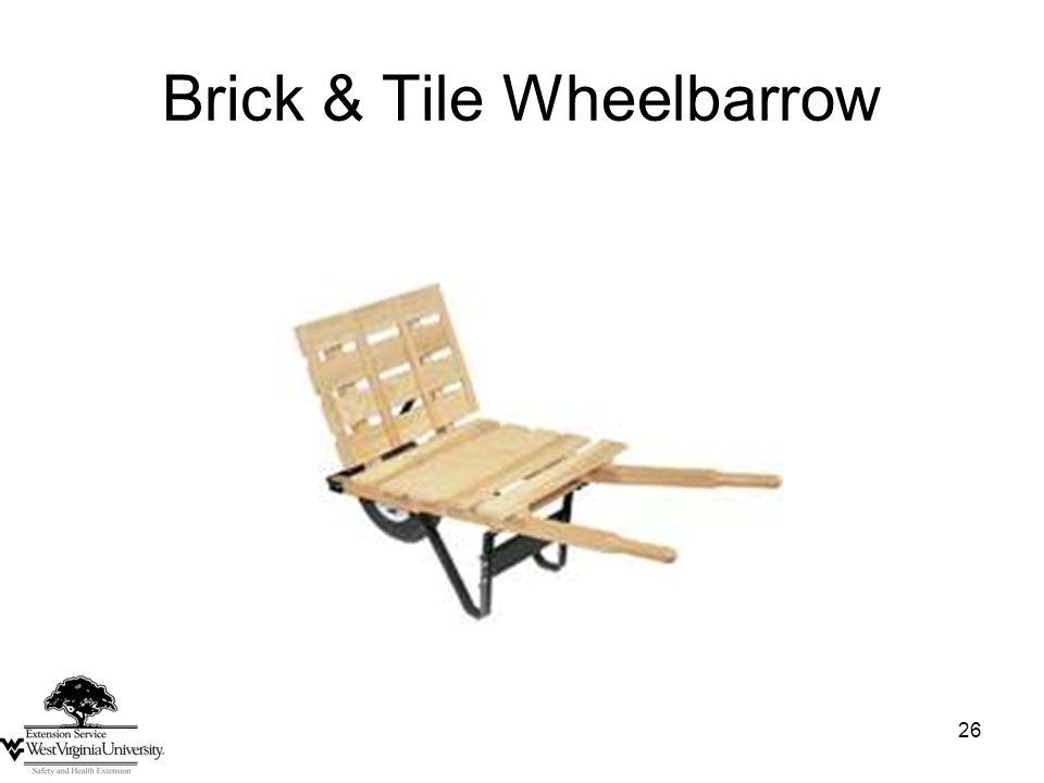 26 Brick & Tile Wheelbarrow