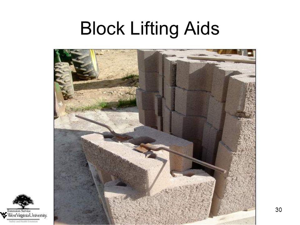 30 Block Lifting Aids