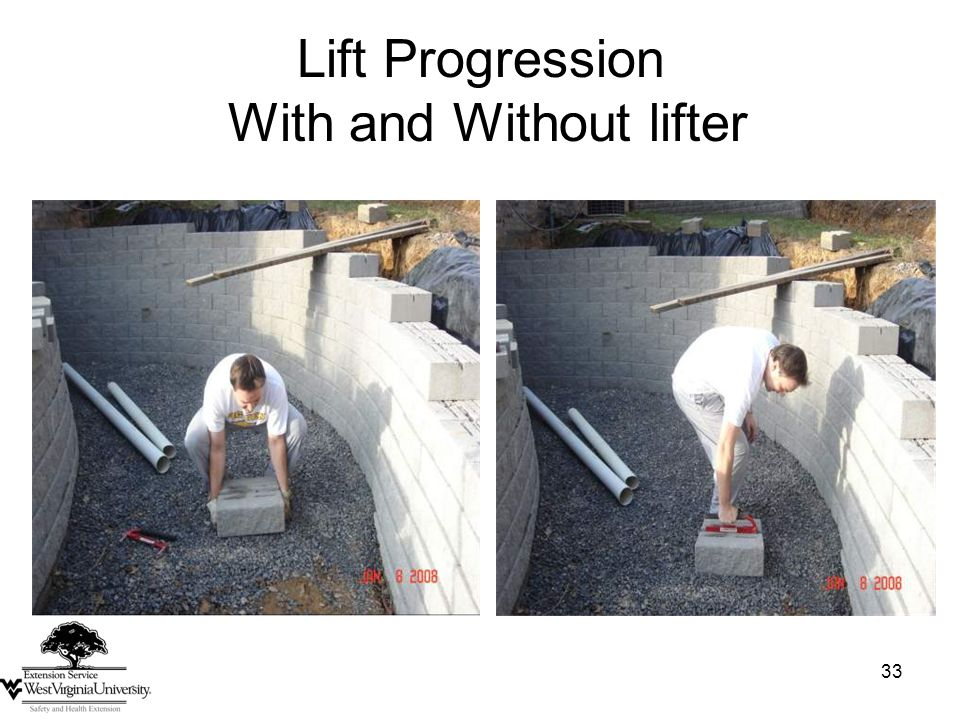 33 Lift Progression With and Without lifter