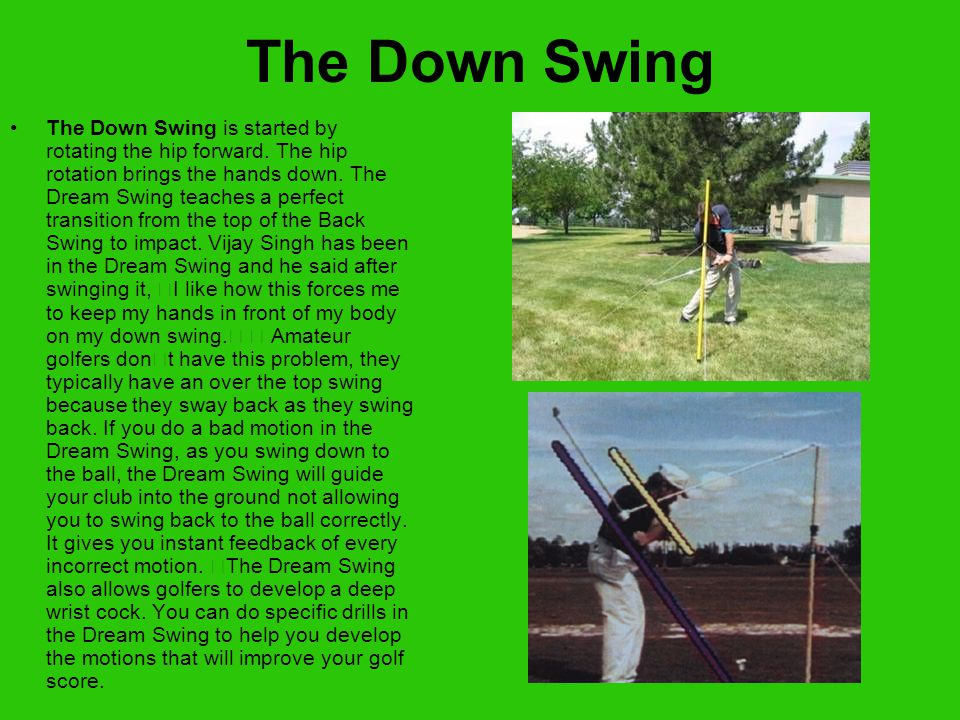 The Golf Swing is a centrifugal force motion.