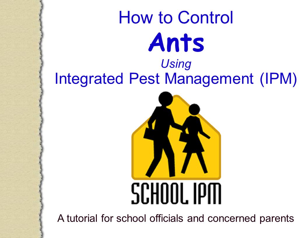 How to Control Ants Using Integrated Pest Management (IPM) A tutorial for school officials and concerned parents