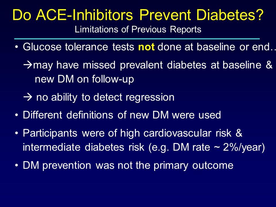 DREAM Do ACE-Inhibitors Prevent Diabetes.