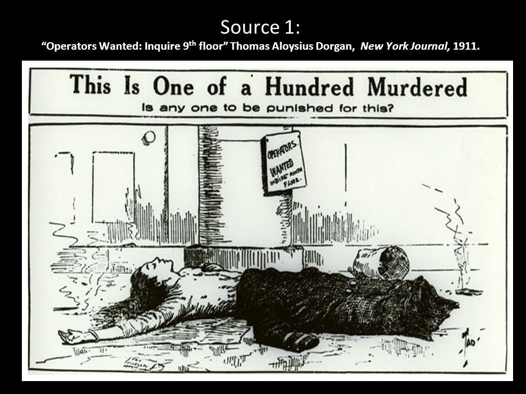 "Source 1: ""Operators Wanted: Inquire 9 th floor"" Thomas Aloysius Dorgan, New York Journal, 1911."