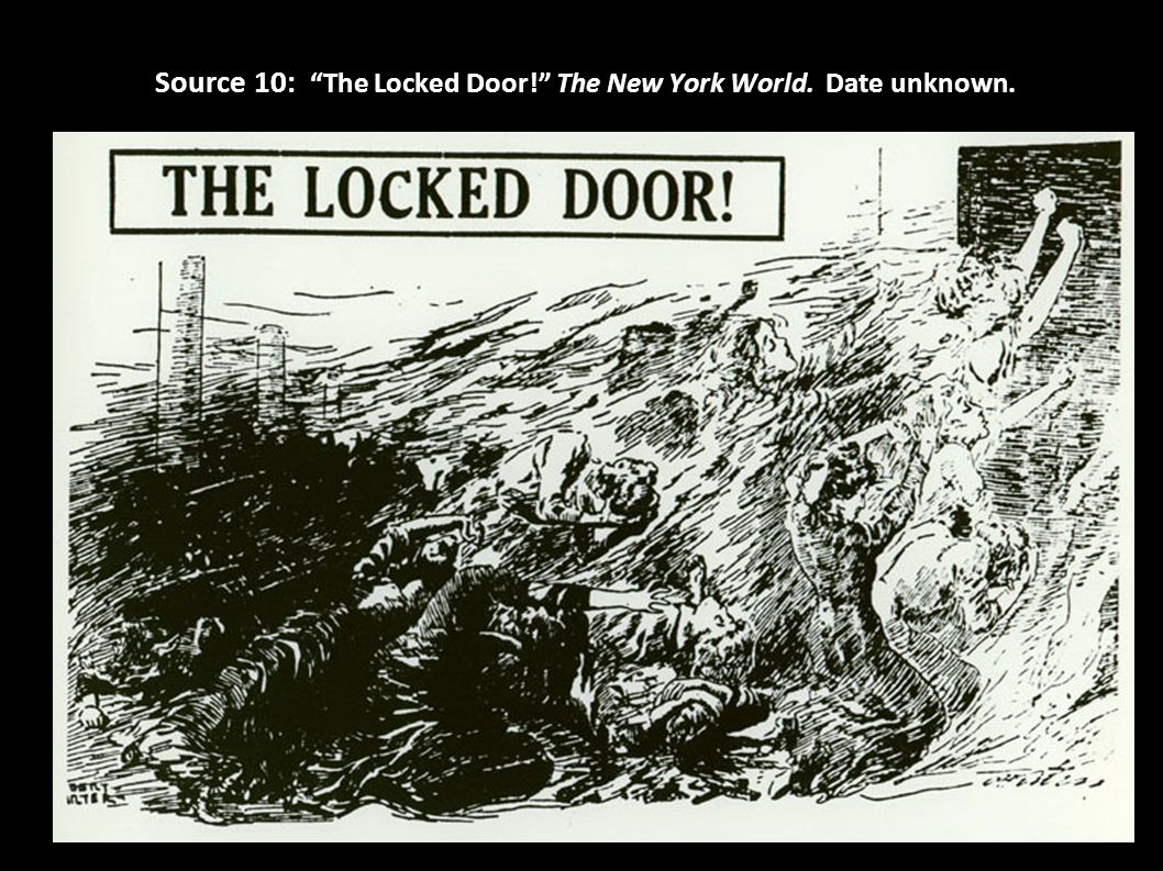 Source 10: The Locked Door! The New York World. Date unknown.