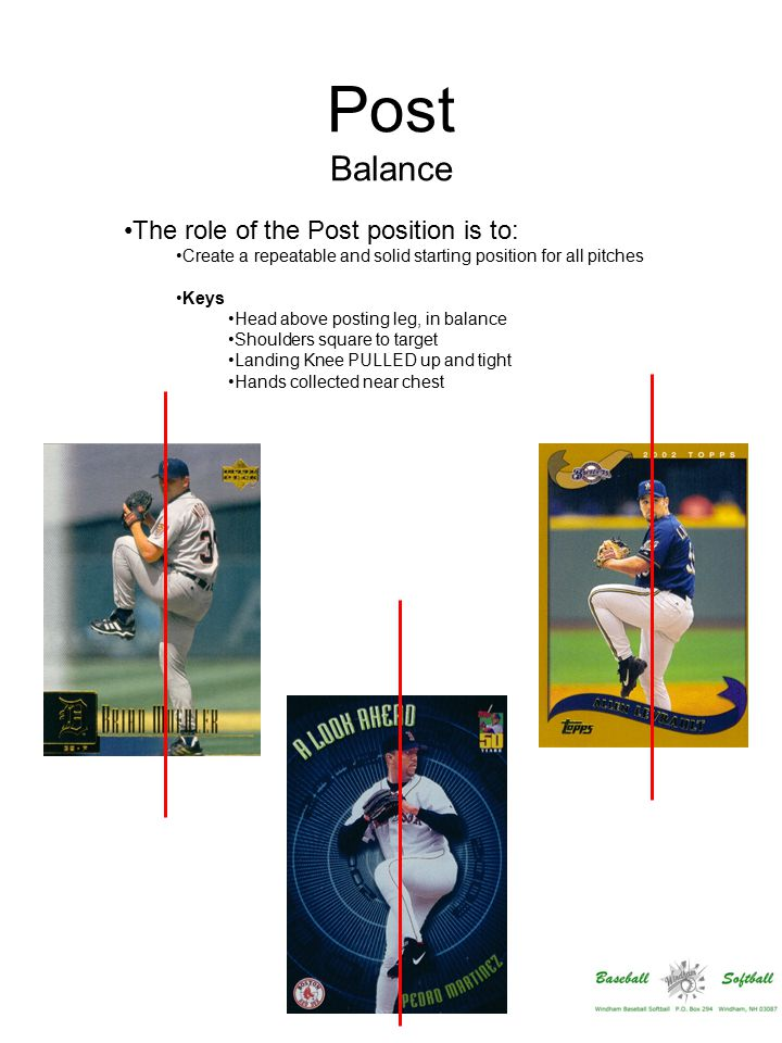 Break Symmetry The role of the Break phase is to: Get the throwing hand into perfect launch position – by getting the hand in proper position exactly as landing foot lands Keys Hands go DOWN, then circularly into position Elbows ABOVE shoulders at end of this phase Landing foot goes directly and forcefully to home plate