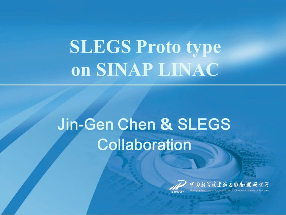 May 18th 2006The 6th China Japan Nuclear Physics Symposium Outline  A brief introduction of Shanghai Synchrotron Radiation Facility (SSRF) & Shanghai Laser Electron Gamma Source (SLEGS)  SINAP LINAC and Candidate lasers  The simulated results for backscattering  Progress in setup of proto type of SLEGS