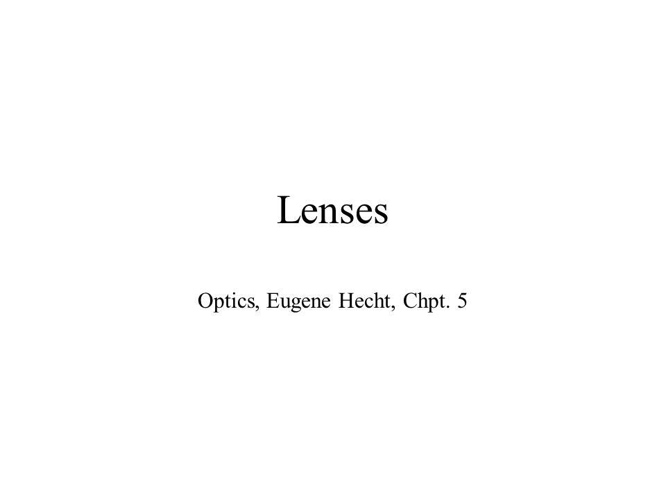 Lenses Optics, Eugene Hecht, Chpt. 5